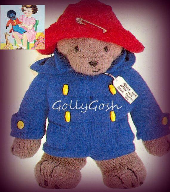 Etsy Pdf Knitting Pattern For Paddington Bear With Clothes