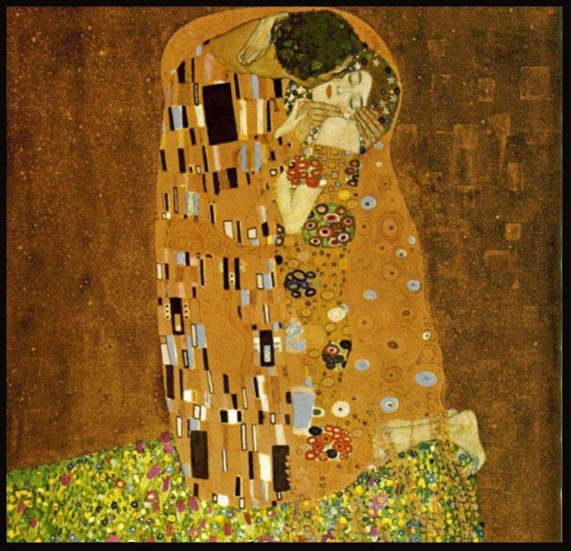 Klimt The Kiss . . . framed giclee print