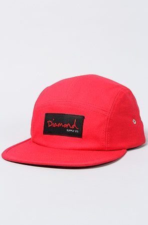 0606db30a55709 The OG Script 5 Panel Hat in Red by Diamond Supply Co. #Karmaloop # DiamondSupplyCo