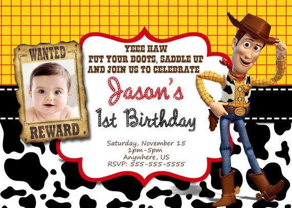 Woody Toy Story Birthday Invitations Western By