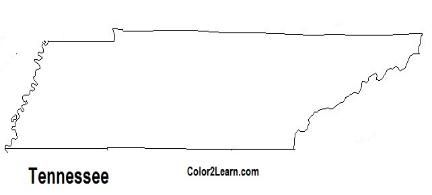 State Of Tennessee Flag And Map Coloring Pages Tennessee Flag Tennessee State Flag State Of Tennessee