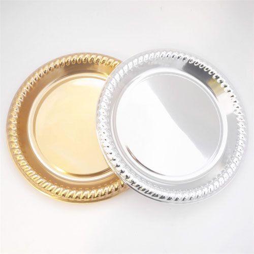 Round+Plastic+Plates+Metallic+Reflective+Shine+by+PartySpin,+$10.45 ...