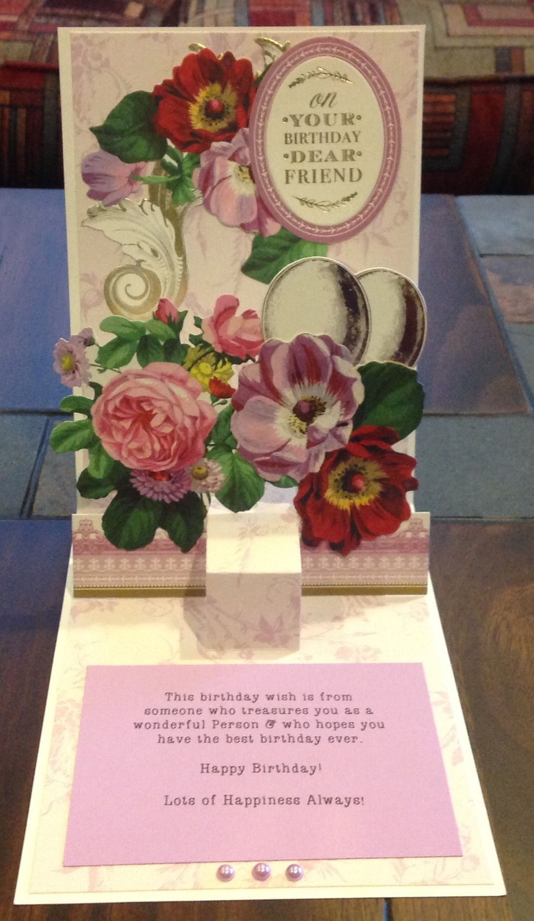 My Anna Griffin Pop Up Card Inside Anna Griffin Creations