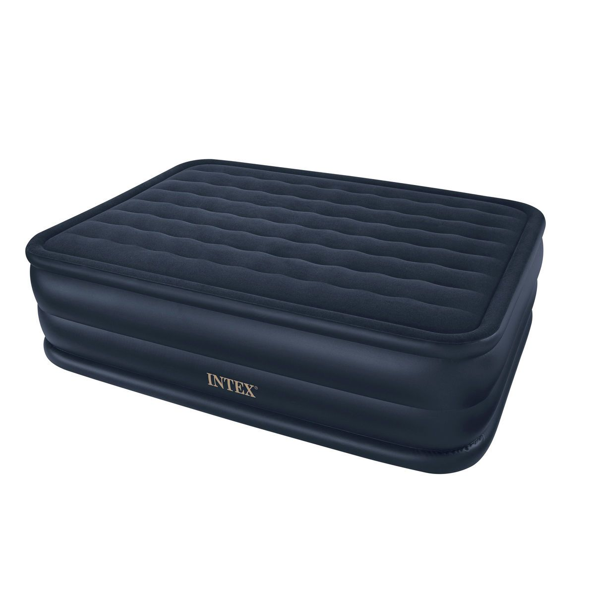 intex queen downy raised air bed with integrated pump 402186