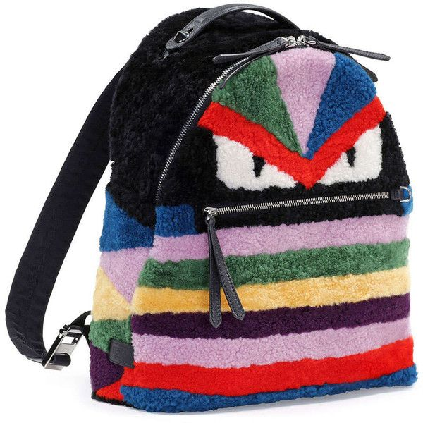 Fendi Monster Shearling Fur Backpack