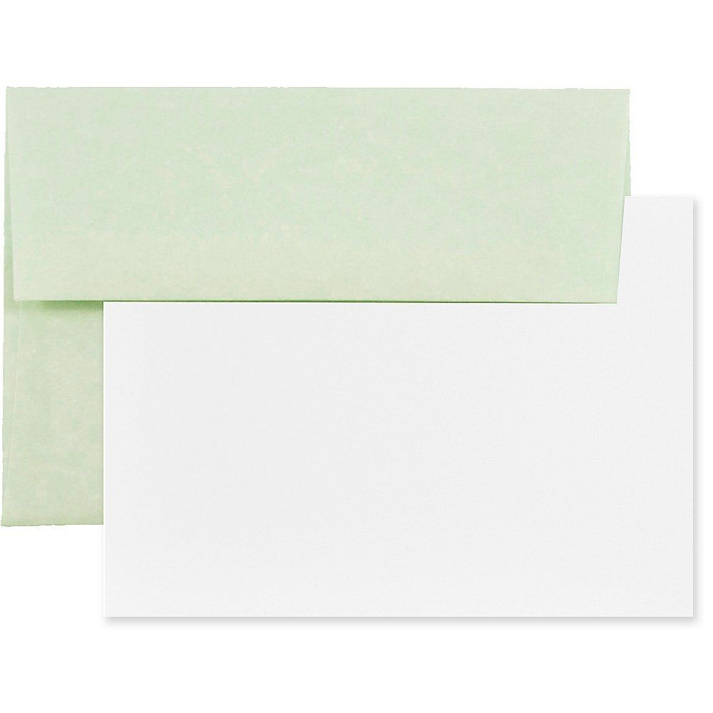 Jam Paper Stationery Set 4 3 4 X 6 1 2 30 Recycled Green