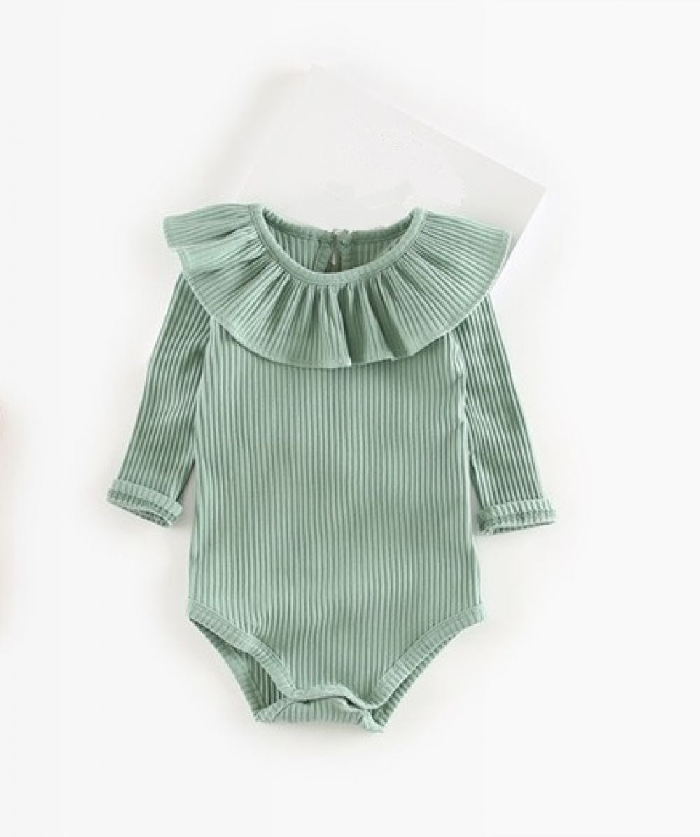 Photo of Baby Girl's Knitted Long Sleeve Bodysuit