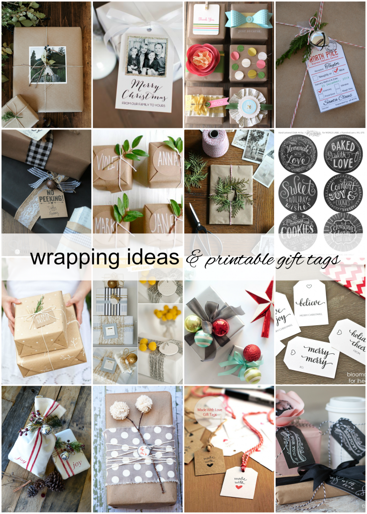 30 Gift Wrap Ideas and Printable Gift Tags