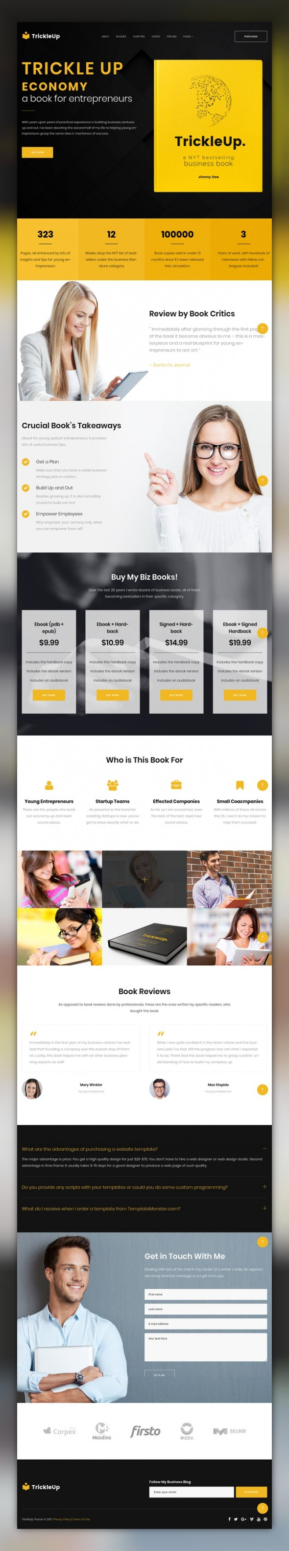 One Page E-book Landing WordPress Theme CMS & Blog Templates ...