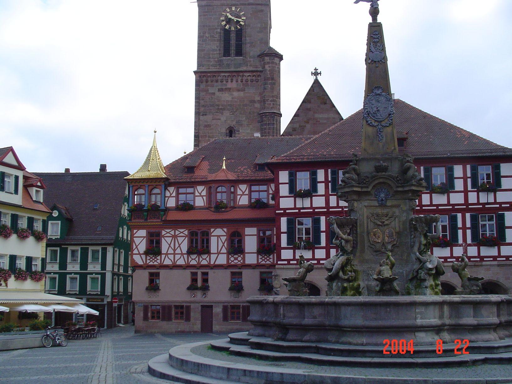Love, love German architecture -- Schwabach, Germany, city center