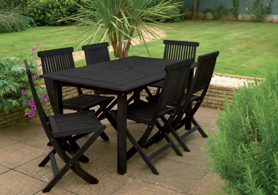 Painted Garden Furniture, Painting Outdoor Wood Furniture Black