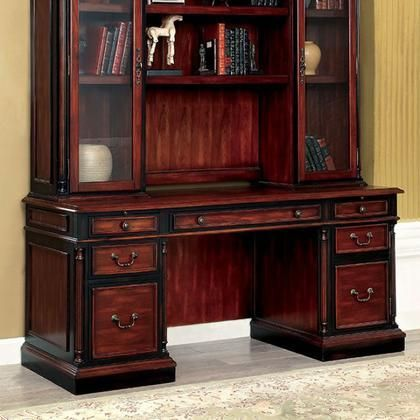 Strandburg CM-DK6255CD Computer Desk with Transitional Style Multiple  Drawers Antique Style Knobs and Handles Solid Wood Others in Cherry/Black |  Pinterest ... - Strandburg CM-DK6255CD Computer Desk With Transitional Style