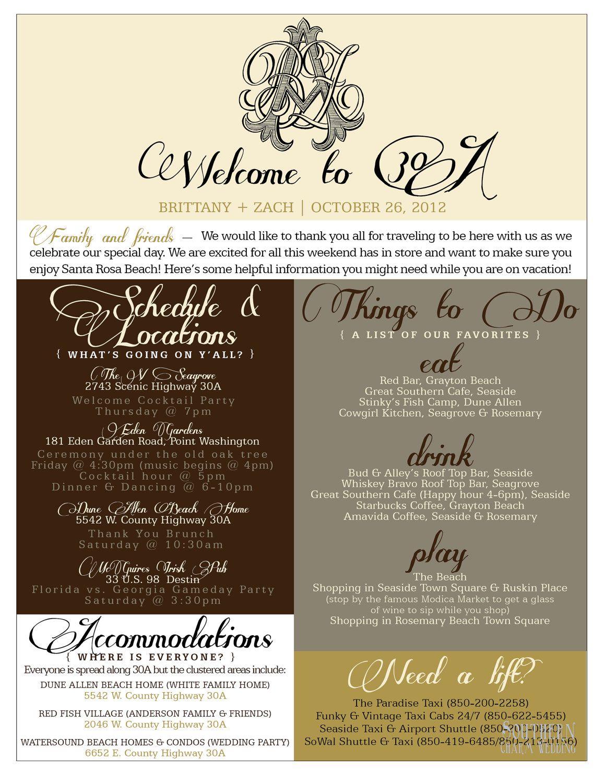 Wel e Bag Information Sheet $55 on etsy Wedding Hotel Bags Hotel Guest Wel e