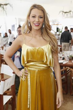Blake Lively's velvet dress is the perfect inspiration for summer wedding guests - click to see other celebrities with style to copy when you attend weddings this summer.