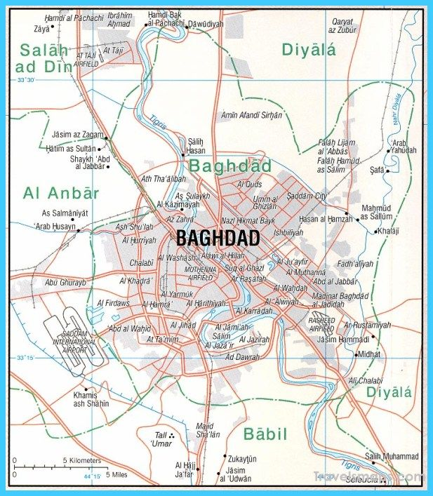 nice Map of Baghdad Travelsmaps