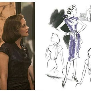 An interview with costume designer #JoannaJohnston of the film #Allied featuring costume illustrations by @jacquelinebissett #interview #films #BradPitt #MarionCotillard #movies #bespoke #designer http://ow.ly/5dF4305LGHD