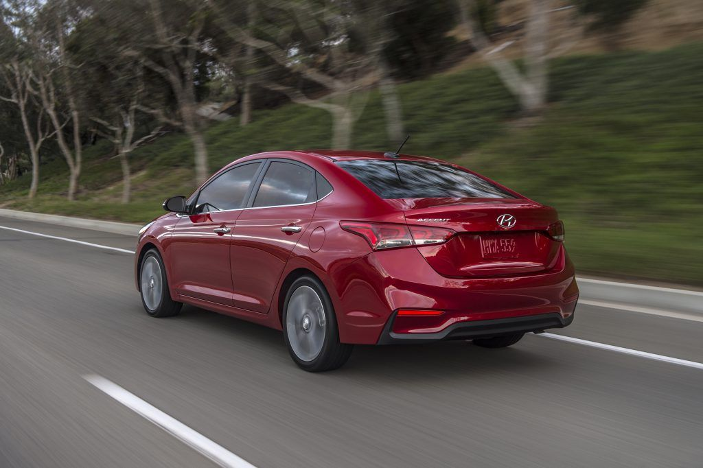 Hyundai Introduces All New 2018 Accent At The Orange County International Auto Show Anaheim Calif Sept 28 2017 P Hyundai Accent Best Small Cars Hyundai