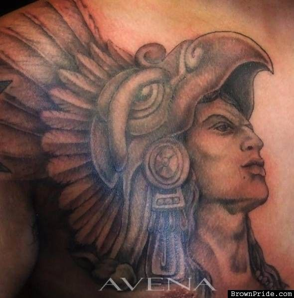 Aztec Warrior Drawings Aztec Eagle Warrior Tattoo Grey Ink Aztec Eagle Warrior Warrior Tattoo Warrior Drawing Aztec Warrior