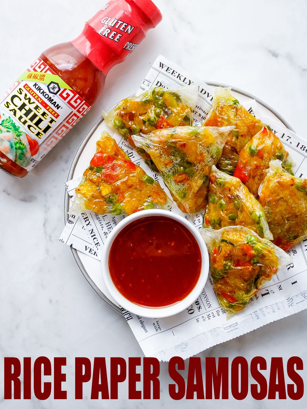 Crispy and Chewy Rice Paper Samosas Recipe Rice paper