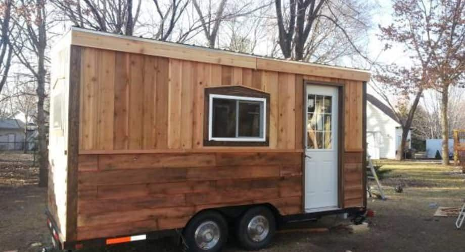 Cozy Tiny House On Wheels Tiny House For Sale In Rapid City South Dakota Tiny House Listings Tiny Houses For Sale Tiny House Trailer House On Wheels