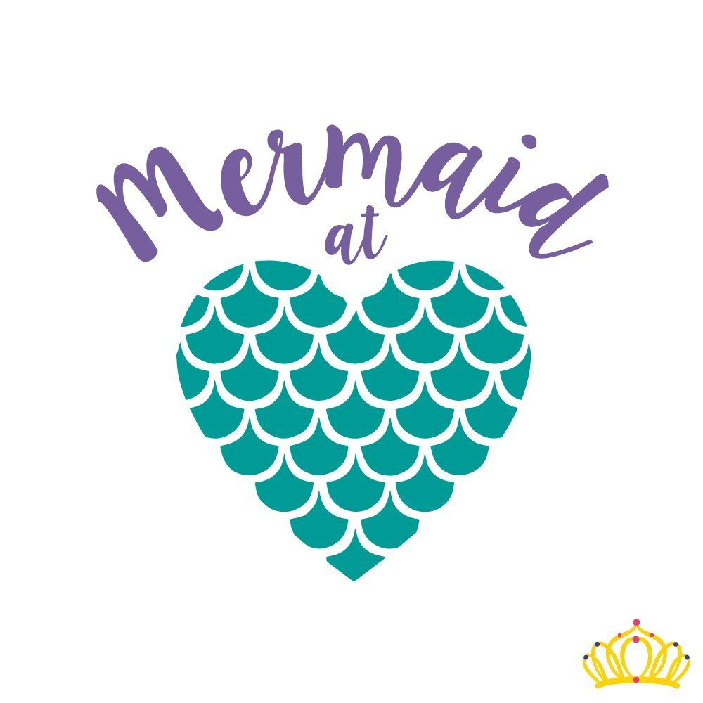 Custom Mermaid At Heart Vinyl Decal For Yeti Cup Water Bottle - Mermaid custom vinyl decals for car