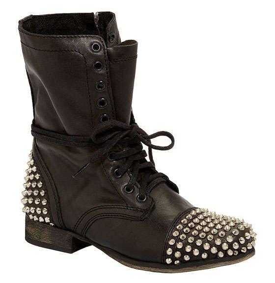 237fbf5e22f Rocker Victorian Booties   Punk Fashion   Studded combat boots ...
