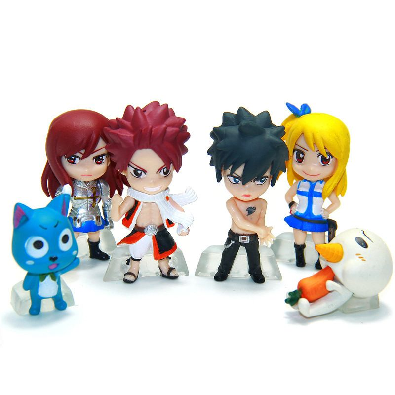 Anime Figure 6pcs Set Fairy Tail Natsu Gray Lucy Erza Pvc Action Figures Kids Toys Dolls Gifts For Girls Fairy Tail Figures Fairy Tail Anime Anime Fairy Good smile company, product code: pinterest