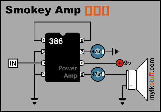 Power Amp Circuit Diagram
