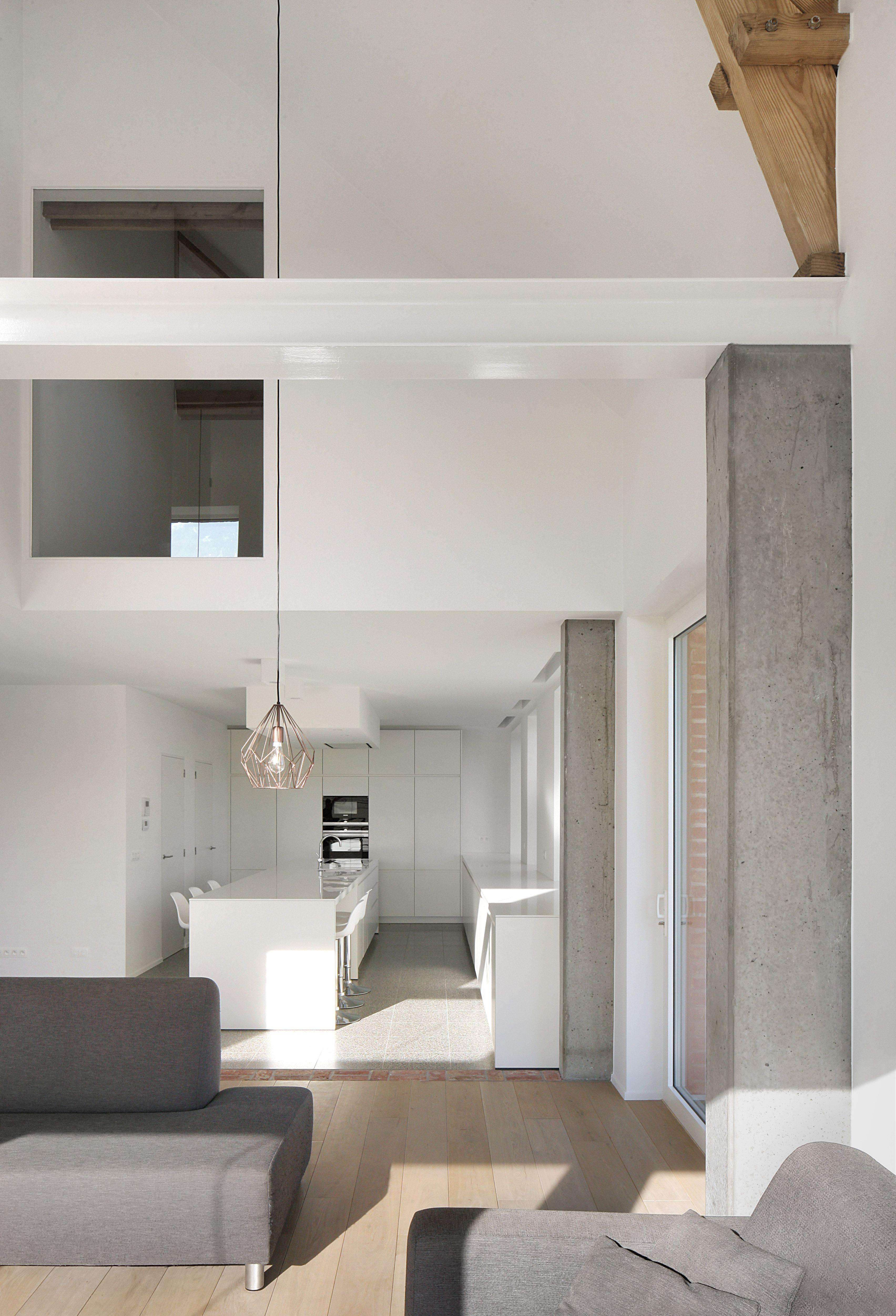 Modernes Bauernhaus Innenbeleuchtung Architektur Innenarchitektur Belgien Toms Häuser Internationaler Stil Lesezeichen Farbschemata