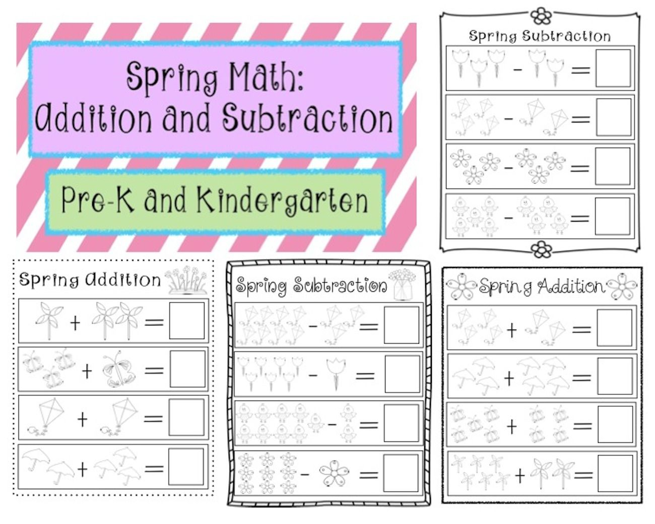 Spring Math Addition And Subtraction