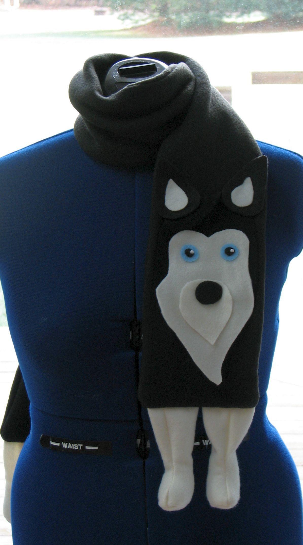 Husky Scarf Sewing Pattern Husky Dog Scarf Pattern With