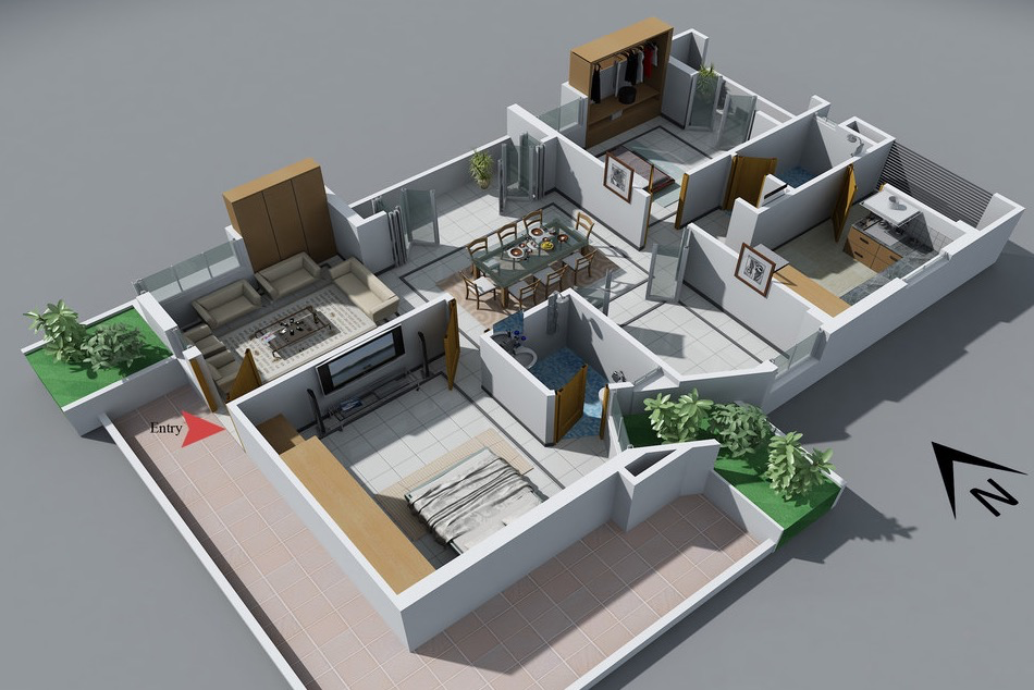 A two bedroom home may not have the dimensions of a mansion but it · bedroom floor plansapartment