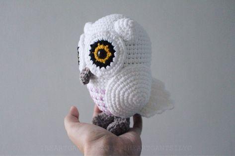 Crochet Snowy Baby Owl   # Owls2 ✩ Eulen ✩ Gufi*   Pinterest ...