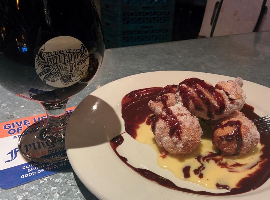 Patrick Cohen  beer and dessert at Flying Saucer before dinner @FreeStateBeer