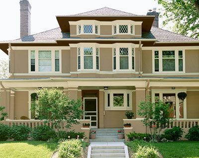 Considering Mult Paint Colors We Hope To Get Rid Of The Green Trim Exterior House