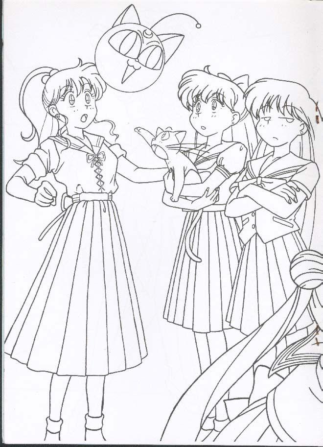 Раскраски   VK   Sailor moon coloring pages, Sailer moon ...