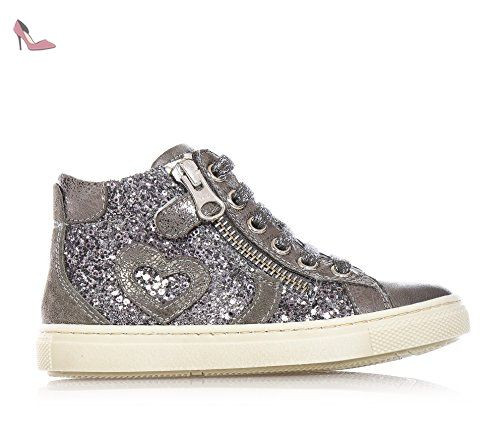 Nero Giardini Sneakers Basses Fille - Gris - Argent, 21 EU EU