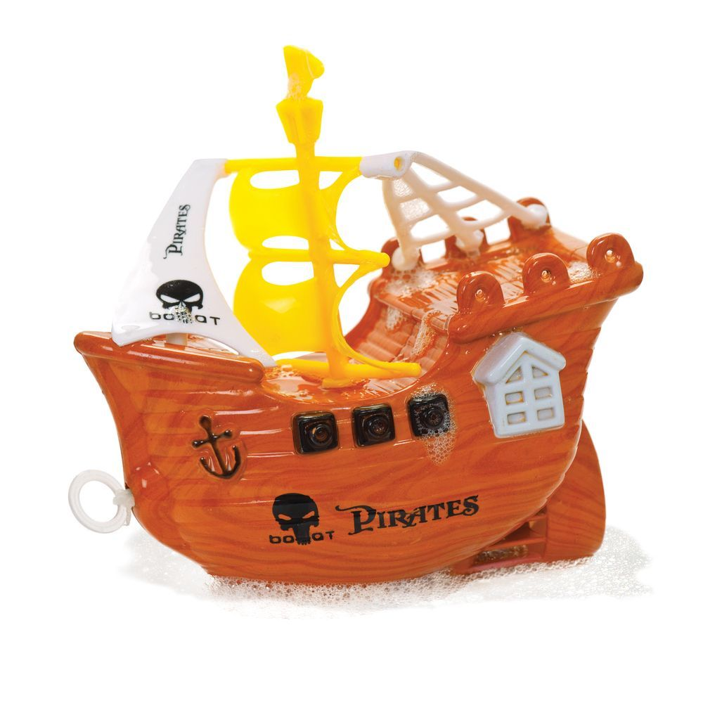 Pirate Ship Bath Toy | Wind Up Pull Cord Pirate Ship Great Fun Bath ...