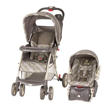 Travel System Monkey Plaid Stroller Infant Car Seat