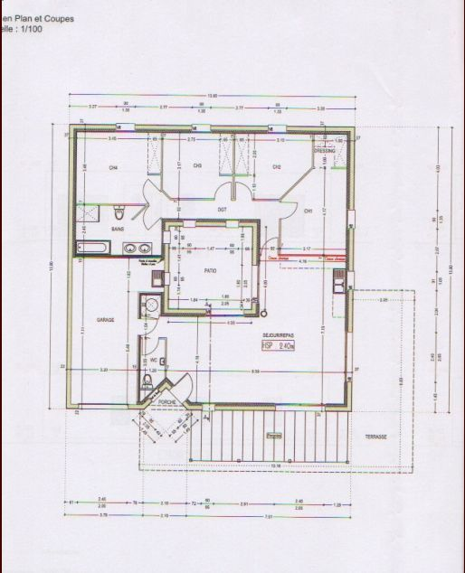 Photo Ce Sont Les Plans De La Maison, Carrée Avec Un Patio Au Milieu.   Plan  De Maison   Vendee (85) Photos