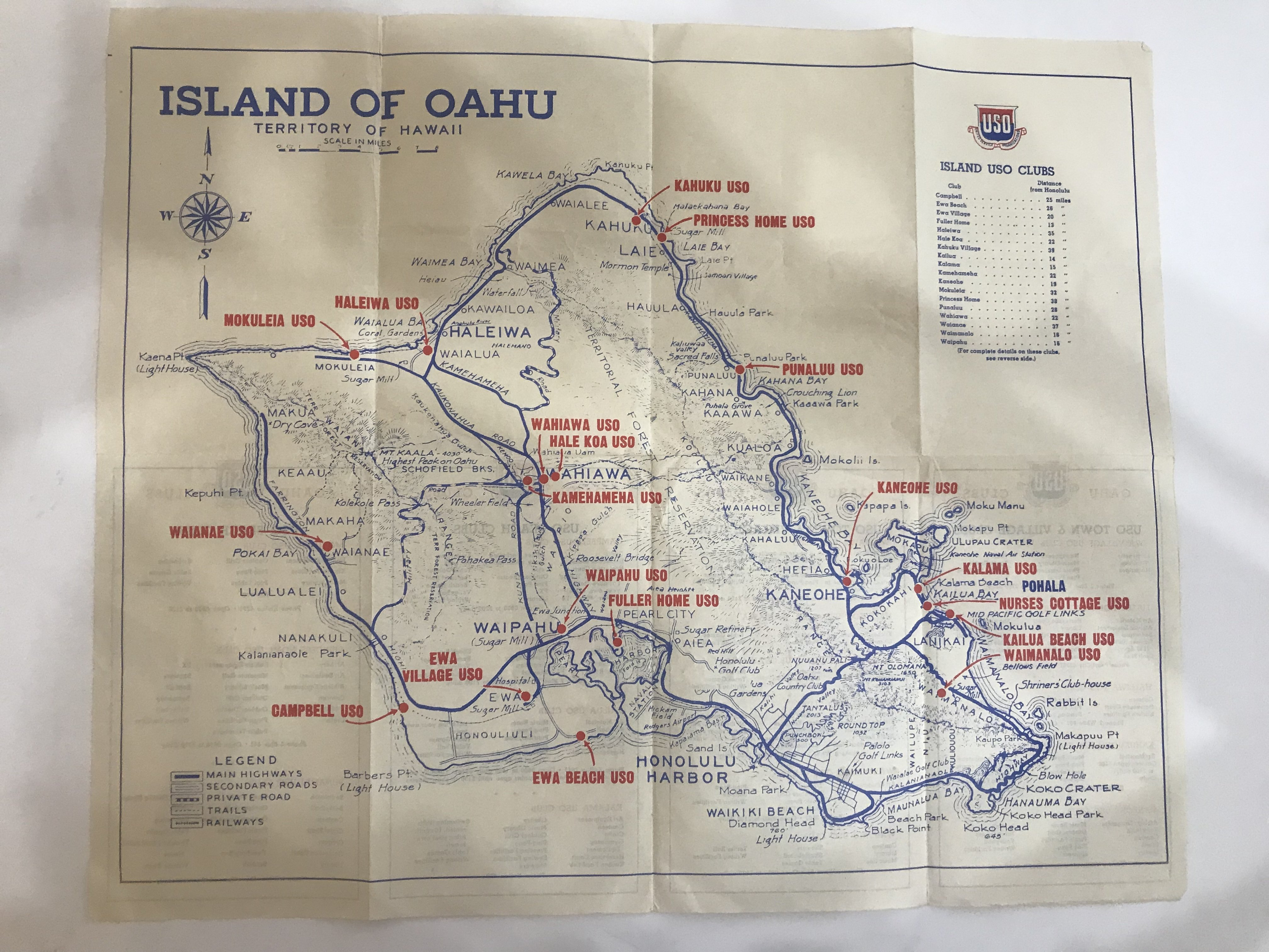 Uso Collectible Vintage Travel Brochure Map And Guide To