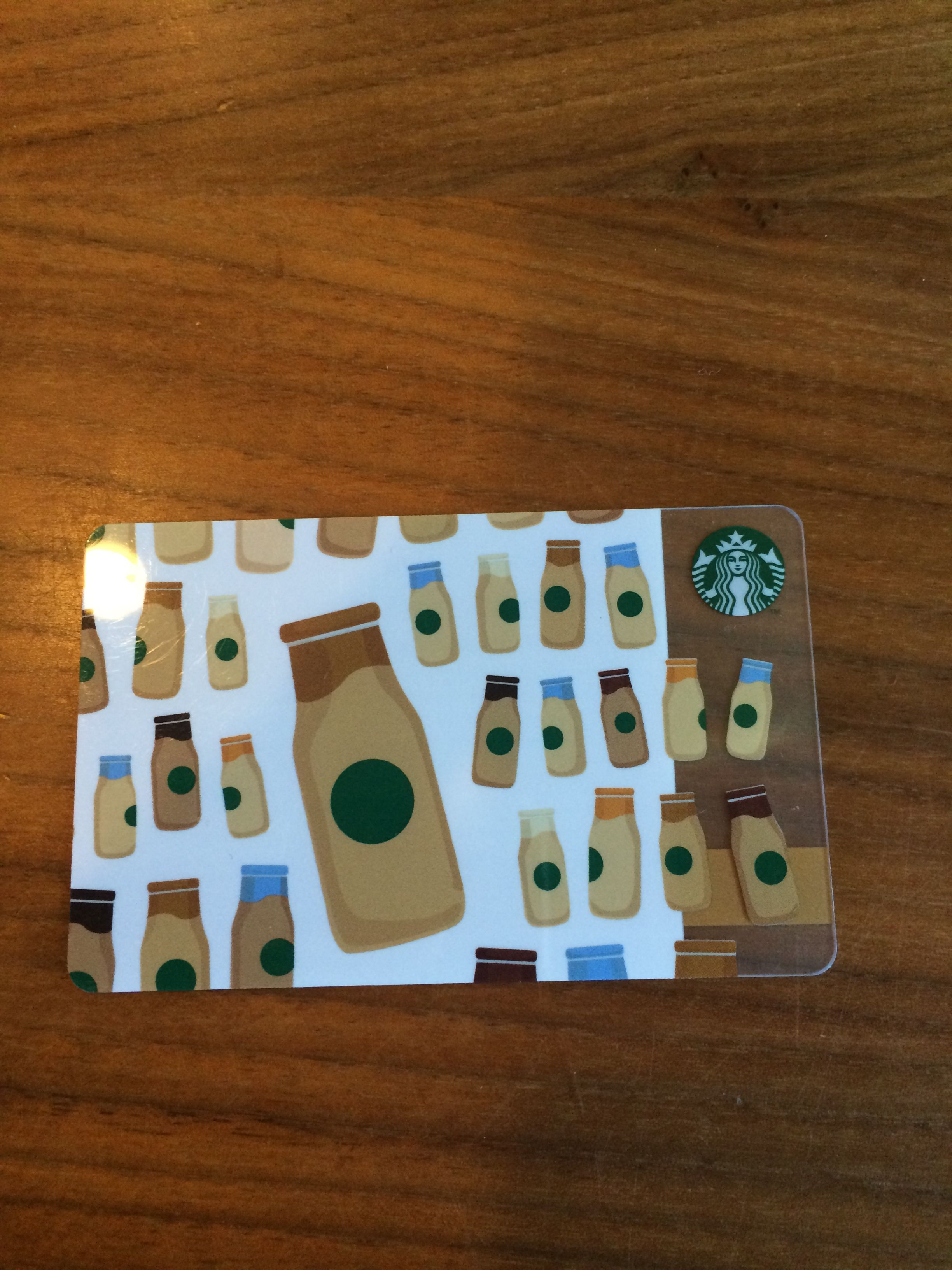 Frappuccino Bottles Starbucks Card