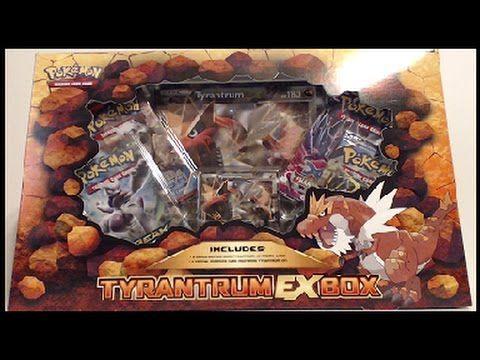 Opening A Pokemon Tyrantrum Ex Box Pokemon Tyrantrum