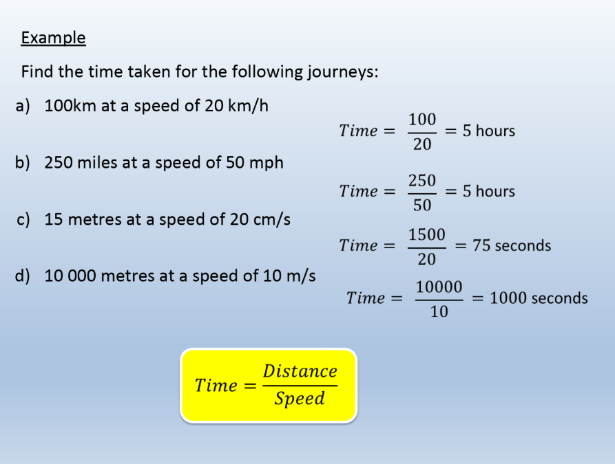Introduction to Distance, Speed, Time Lesson and Worksheet