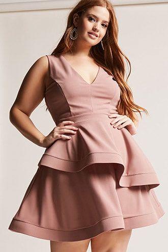 Plus Size Tiered Ruffle Dress | Fashion, Dresses, Fashion ...