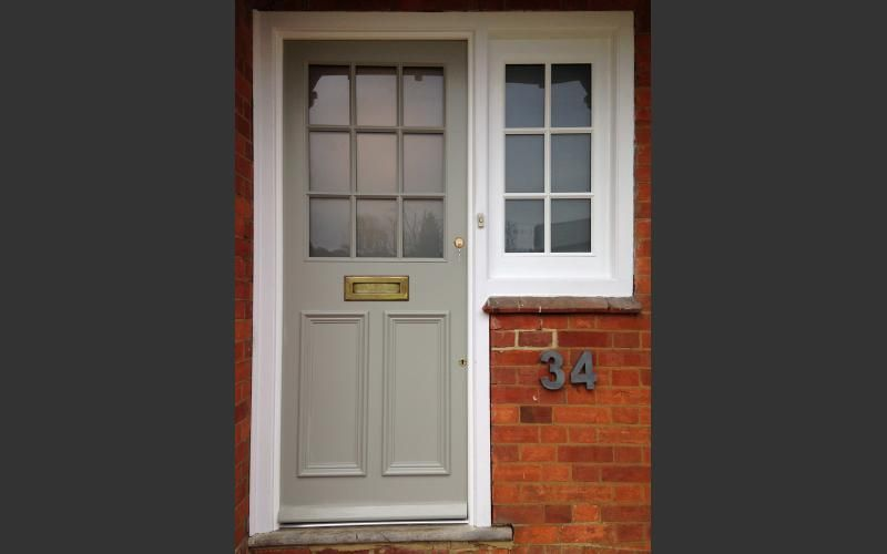 Bespoke front door and side window everitt jones new for Entry door with window that opens