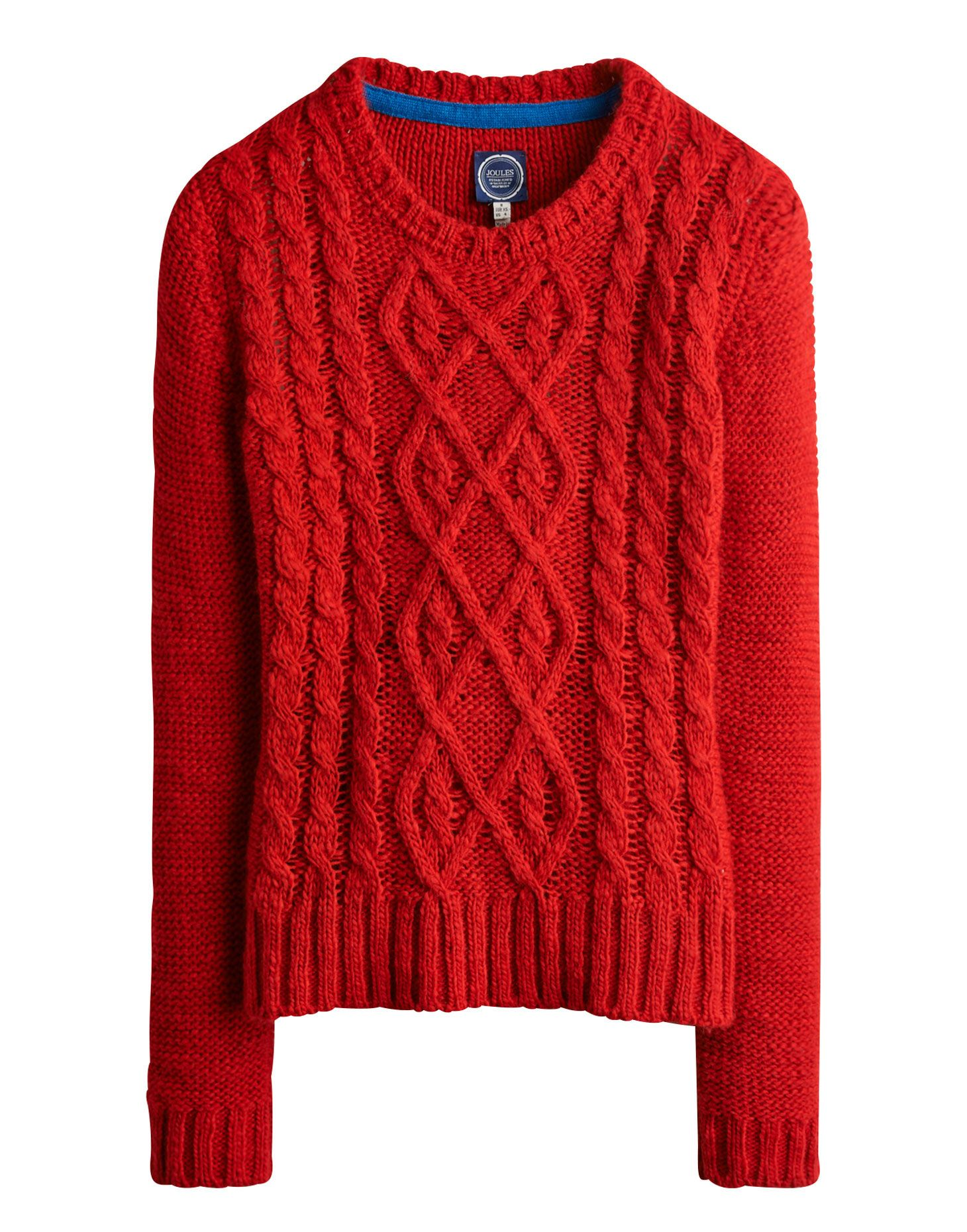 ladies red cable knit jumper | AVELYN Womens Cable Knit Jumper ...