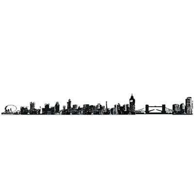 Peel and Stick Wall Art - London Cityscape - Girl's College Dorm Wall Decor. $12.99 Natalie!!!!!