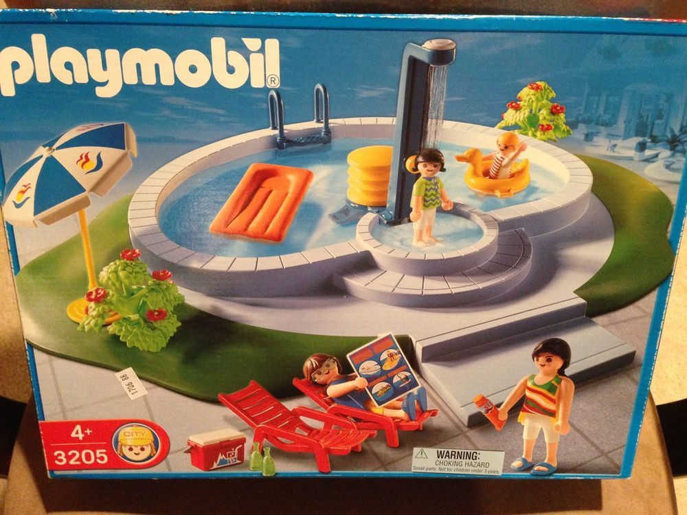 Playmobil 3205 swimming pool summer vacation retired rare - Playmobil swimming pool best price ...