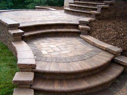 Porch Steps Patio Pavers Design Paver Patio Brick Paver Patio